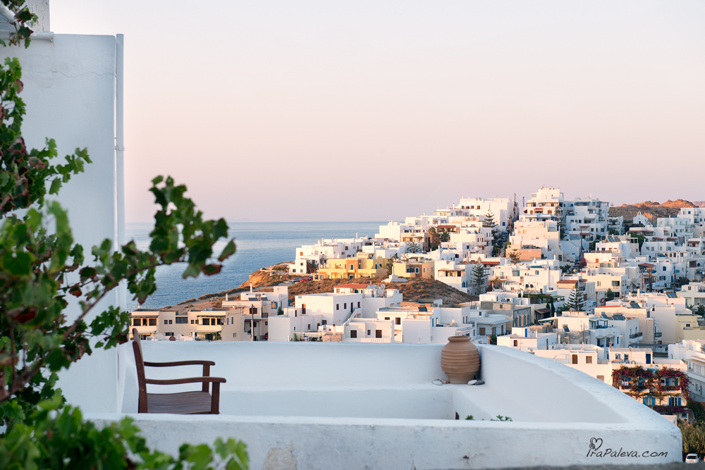 Naxos city view Greece